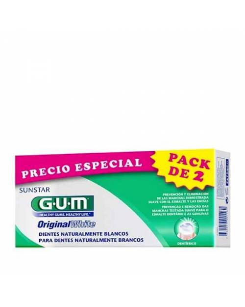 Gum Original White Pasta Dental Dientes Blancos 2x75ml